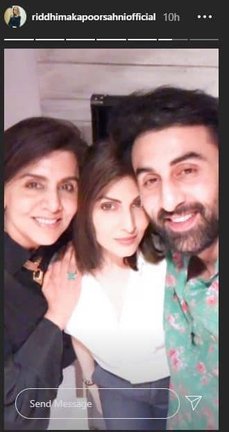 Bollywood Actor Ranbir Kapoor and His Sister Celebrated their Mom Neetu Kapoor 62nd Birthday 2